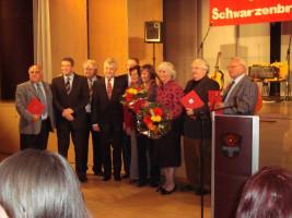Ehrung bei der 90-Jahr-Feier der SPD Schwarzenbruck