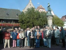Gertraud Fuchs war eine treue Mitfahrerin bei den Ortsvereinsausflügen der Schwarzenbrucker SPD - hier in Colmar