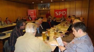 Bericht des Vorsitzenden Martin Glienke in der gut besuchten Hauptversammlung der Schwarzenbrucker SPD