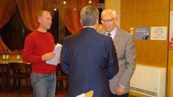 Gratulation vom Ortsvereinsvorsitzenden Martin Glienke und Thomas Beyer