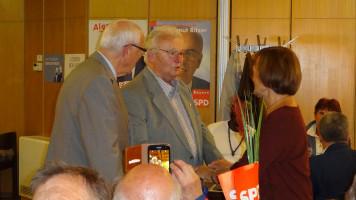 Altbürgermeister Albrecht Frister erzählte von den gemeinsamen Aktivitäten im neuen Landkreis Nürnberger Land