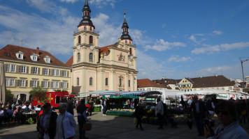 Der barocke Marktplatz von Ludwigsburg