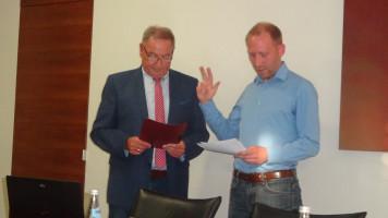 Martin Glienke wird vereidigt