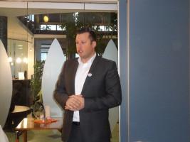 SPD Bürgermeisterkandidat Sebastian Legat bei seiner Vorstellung