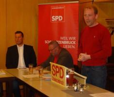 Vorstandsberichte durch Martin Glienke, Matthias Glomm und Sebastian Legat (v.l.n.r.)