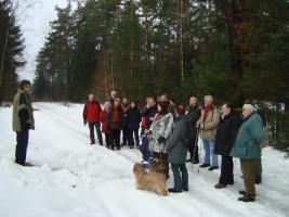 Bei der Winterwanderung 2010