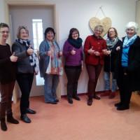 Mitglieder der AsF Schwarzenbruck besichtigten die Neugestaltung der Kita Altenthann