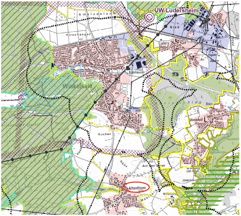 Juraleitung - Abschnitt A3 zwischen Ludersheim und Feucht